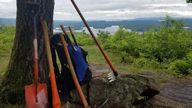 Trail Tools with Lake View