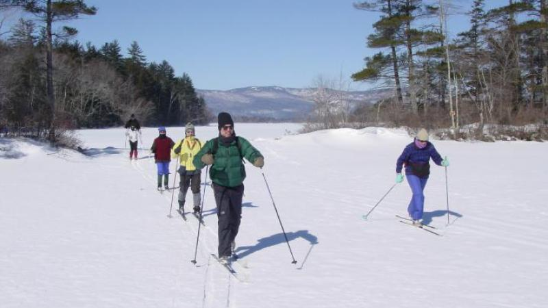 Squam winter skiing