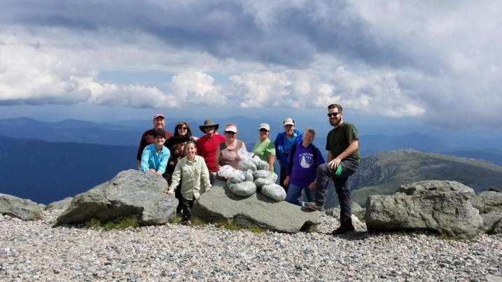 Volunteers on top of Mt. Washington