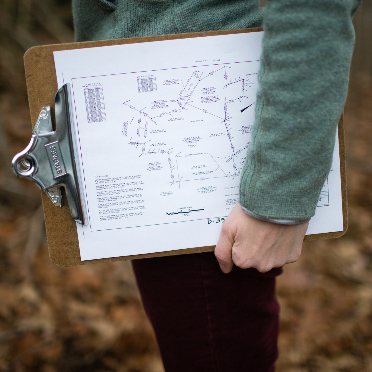 Clipboard for easement monitors