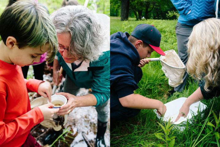 Bioblitz students and experts work together AWWA