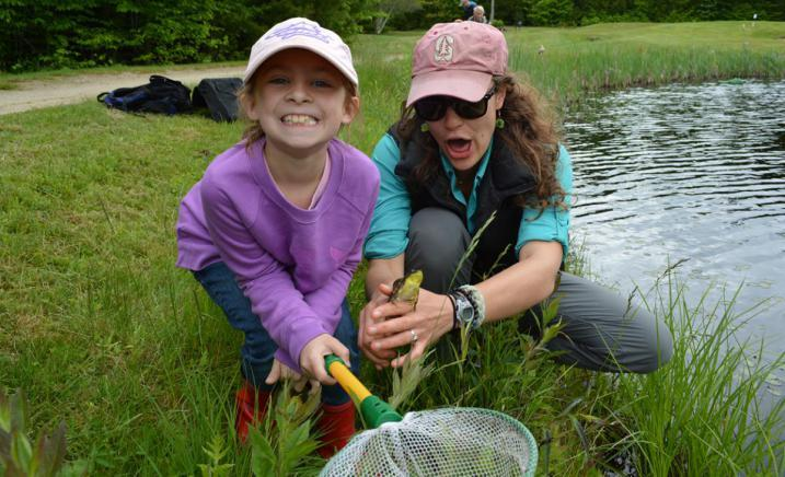 AWWA bioblitz happy kid and frog
