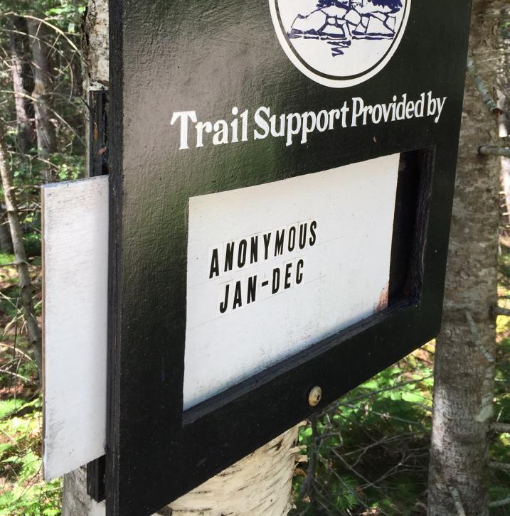 Maine Heritage Trust trail sign
